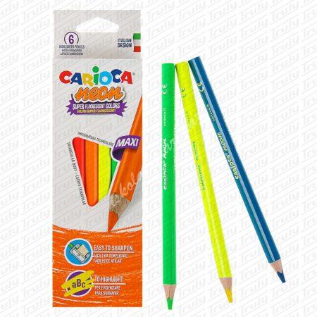 Carioca színes ceruza maxi neon 6-os 42809