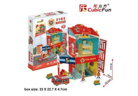 3D Puzzle - Tűzoltó állomás p813