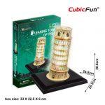 3D Puzzle LED világítással - Leaning Tower (Olaszország) Pisai ferde torony l502