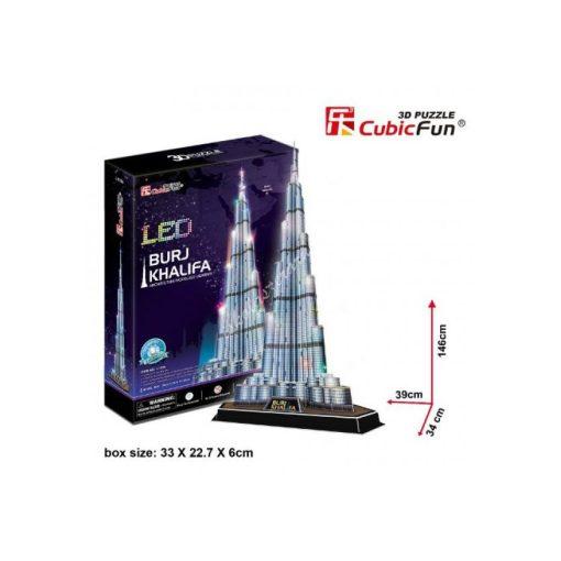 3D Puzzle LED világítással - Burj Khalifa (Dubai) l133