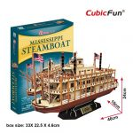 3D Puzzle -Mississippi Steamboat t4026