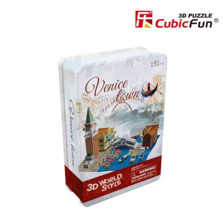 3D Puzzle fém dobozos - Velence városkép p636