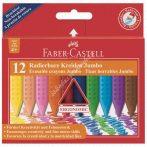 Faber-Castell Grip Jumbo radírozható zsírkréta 12-es