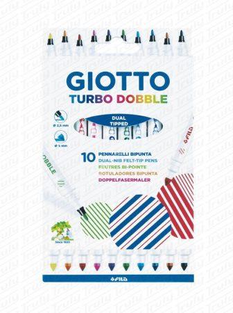 Giotto Turbo Dobble kétvégű 10 darabos filctollkészlet