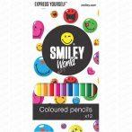 Smiley színes ceruza készlet, 12 darabos