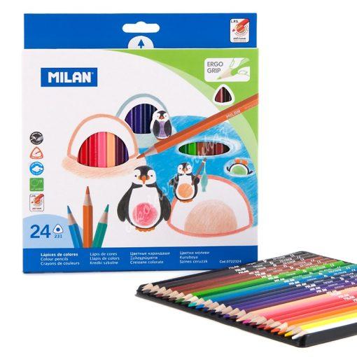 Milan háromszögletű színes ceruza 24-es készlet
