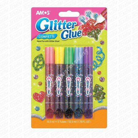Amos ragasztó konfettis glitter szett 5-ös