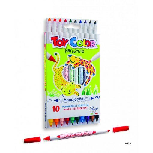 ToyColor filc kétvégű 10 darabos Doppiobello 0035