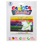 Carioca textil festék 3D 6 darabos 42133