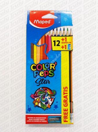 Színes ceruza Maped 12 darabos háromszög