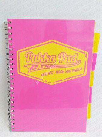 Pukka Pad A/4 spirálfüzet Project Book Neon