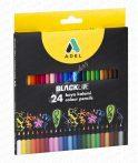 Adel színes ceruza feketefás 24-es 2362