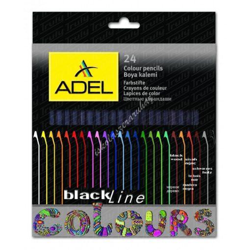 Adel natúr fekete fás színes ceruza készlet, 24-es 2366